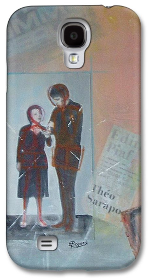 Edith Piaf Galaxy S4 Case featuring the mixed media A Cuoi Ca Sert L'mour Or What Else Is There But Love by Elizabeth Bogard