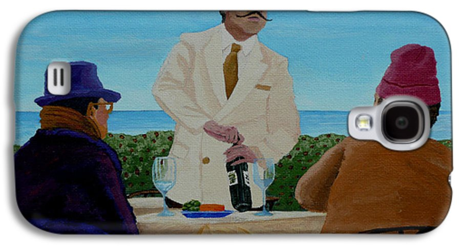 Wine Galaxy S4 Case featuring the painting A Fresh Bottle by Anthony Dunphy