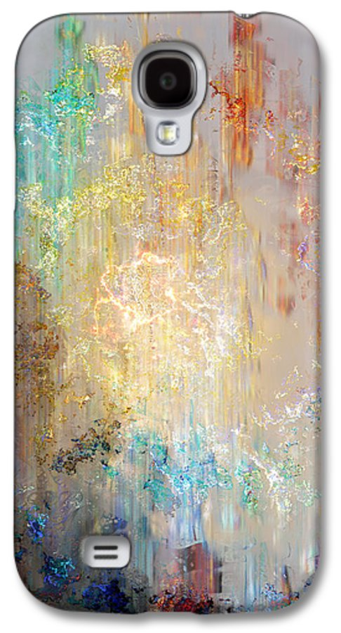 Large Abstract Galaxy S4 Case featuring the painting A Heart So Big - Abstract Art by Jaison Cianelli