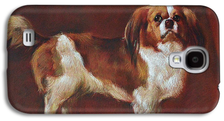 Pastel Galaxy S4 Case featuring the pastel A King Charles Spaniel by Iliyan Bozhanov