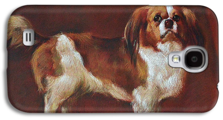 Pastel Galaxy S4 Case featuring the painting A King Charles Spaniel by Iliyan Bozhanov