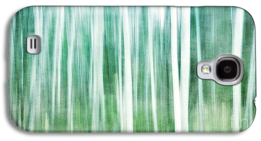 Abstract Galaxy S4 Case featuring the photograph A Matter Of Blues by Priska Wettstein