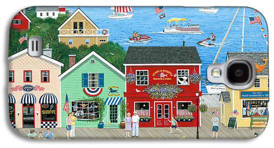 Folk Art Galaxy S4 Case featuring the painting A Star Spangled Day  by Wilfrido Limvalencia