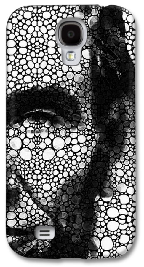 Abraham Lincoln Galaxy S4 Case featuring the painting Abraham Lincoln - An American President Stone Rock'd Art Print by Sharon Cummings