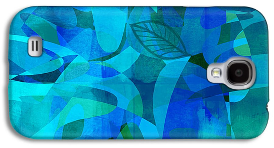 Abstract Galaxy S4 Case featuring the digital art abstract - art- Blue for You by Ann Powell