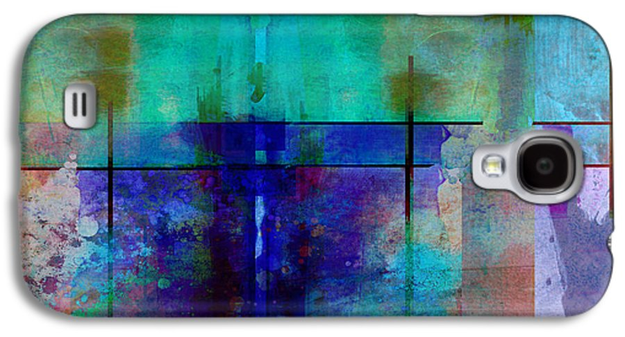 Abstract Galaxy S4 Case featuring the digital art abstract - art- Rhapsody in Blue by Ann Powell