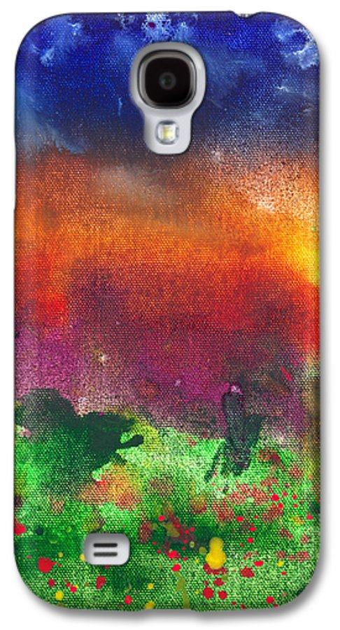 Abstract Galaxy S4 Case featuring the photograph Abstract - Crayon - Utopia by Mike Savad