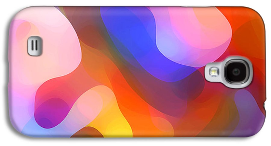 Abstract Art Galaxy S4 Case featuring the painting Abstract Dappled Sunlight by Amy Vangsgard