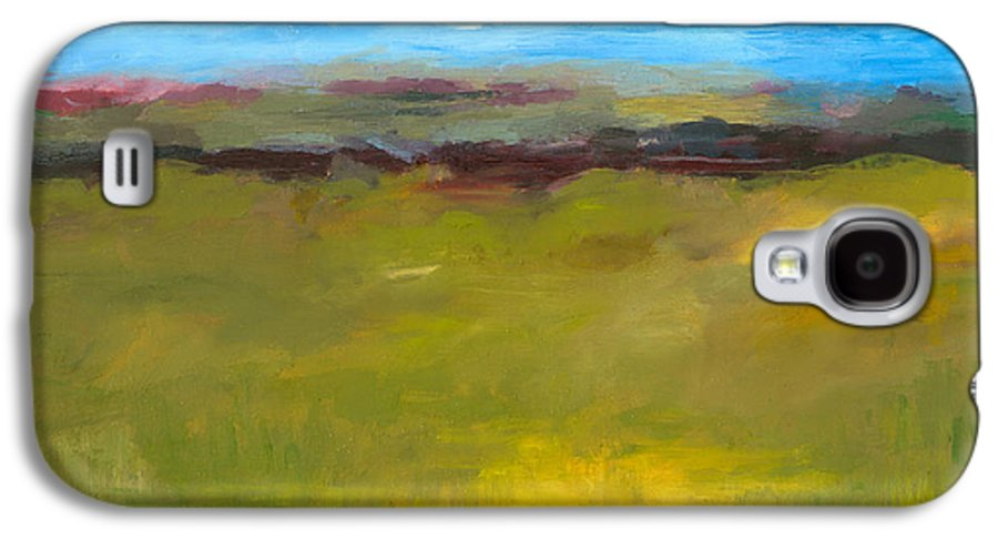 Abstract Expressionism Galaxy S4 Case featuring the painting Abstract Landscape - The Highway Series by Michelle Calkins