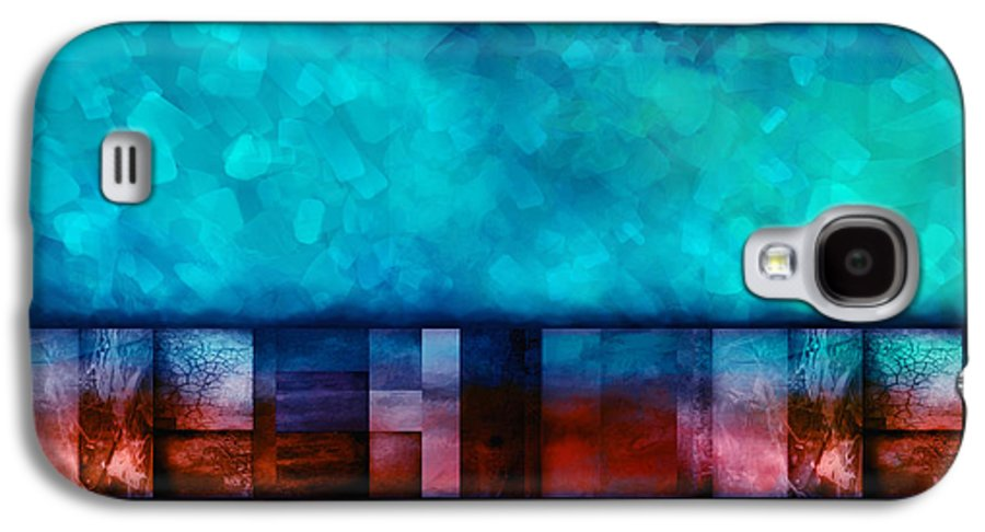 Abstract Galaxy S4 Case featuring the digital art Abstract Study Seven by Ann Powell
