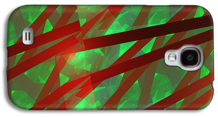 Background Galaxy S4 Case featuring the photograph Abstract Tiled Green And Red Fractal Flame by Keith Webber Jr