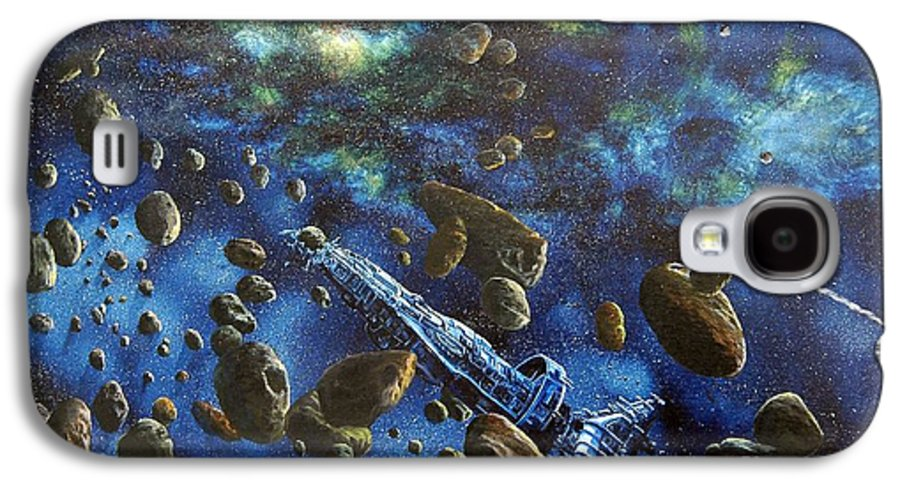 Astro Galaxy S4 Case featuring the painting Accidental Asteroid by Murphy Elliott
