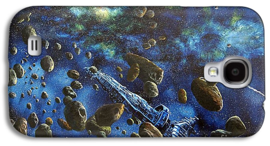 Canvas Galaxy S4 Case featuring the painting Accidental Asteroid by Murphy Elliott