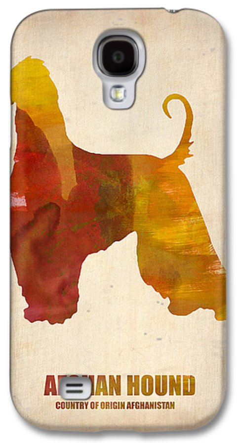 Afghan Hound Galaxy S4 Case featuring the painting Afghan Hound Poster by Naxart Studio