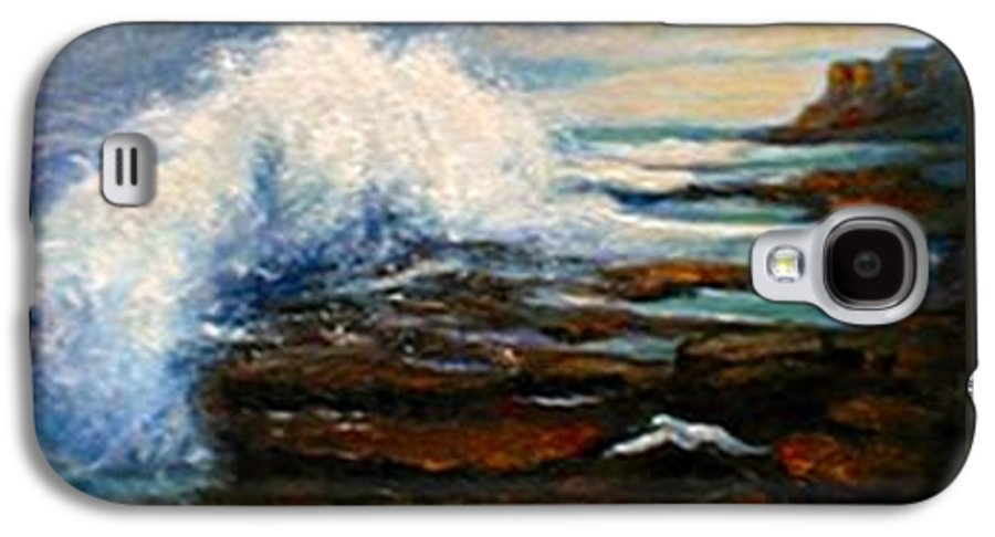 Seascape Galaxy S4 Case featuring the painting After The Storm by Gail Kirtz
