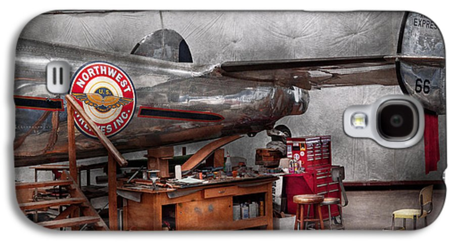 Plane Galaxy S4 Case featuring the photograph Airplane - The Repair Hanger by Mike Savad