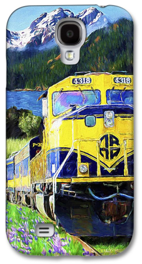 Railroad Galaxy S4 Case featuring the painting Alaska Railroad by David Wagner