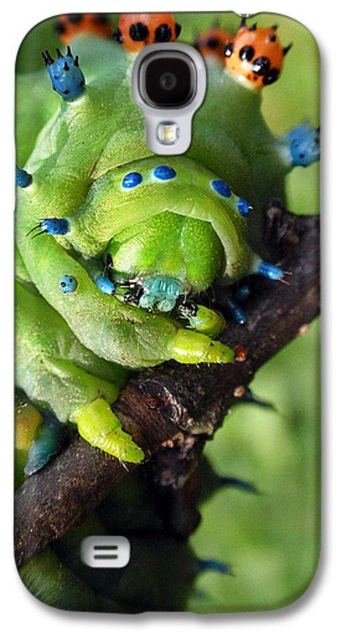 Alien Galaxy S4 Case featuring the photograph Alien Nature Cecropia Caterpillar by Christina Rollo