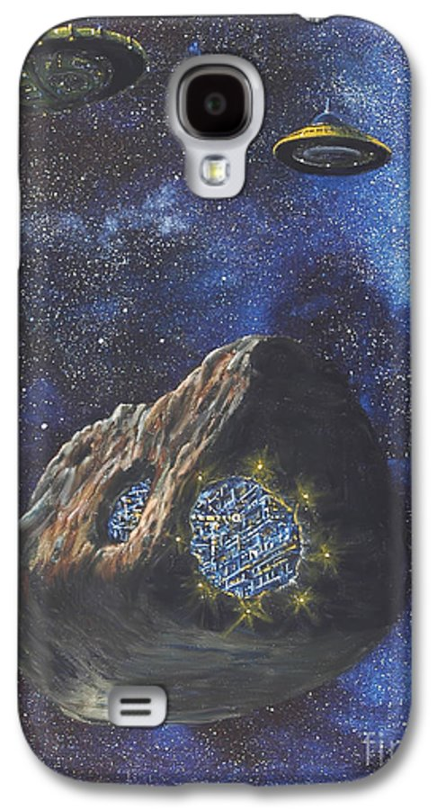 Painting Galaxy S4 Case featuring the painting Alien Space Factory by Murphy Elliott