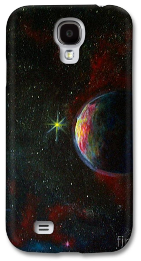 Cosmos Galaxy S4 Case featuring the painting Alien Worlds by Murphy Elliott