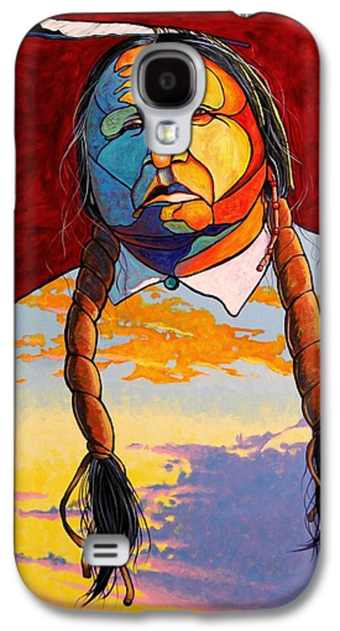 Spiritual Galaxy S4 Case featuring the painting All That I Am by Joe Triano