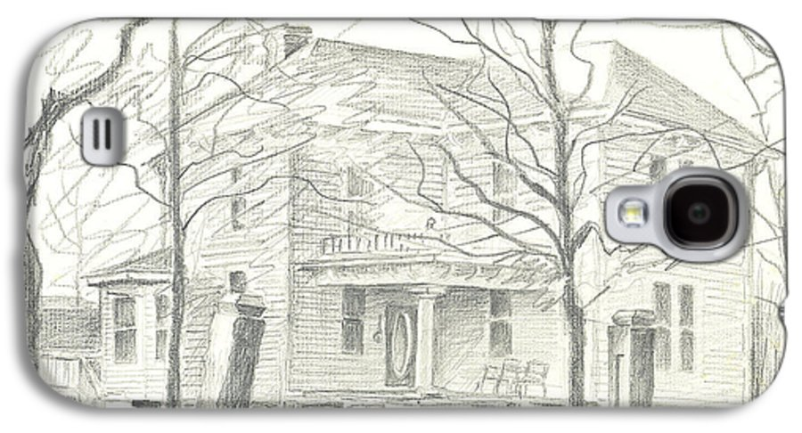 American Home Ii Galaxy S4 Case featuring the drawing American Home II by Kip DeVore