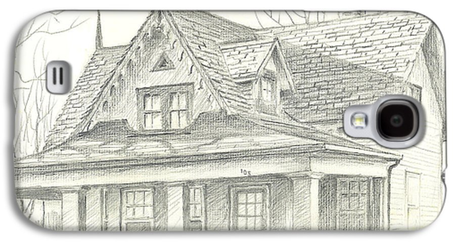 American Home Galaxy S4 Case featuring the drawing American Home by Kip DeVore