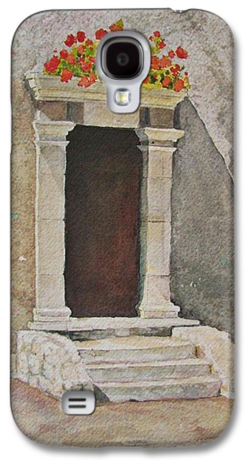 Antique Doorway Galaxy S4 Case featuring the painting Ancient Doorway by Mary Ellen Mueller Legault