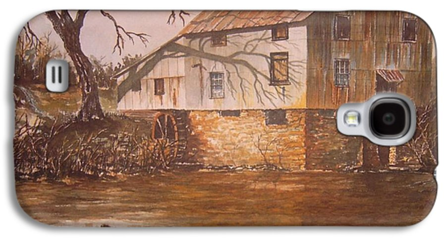 Landscape Galaxy S4 Case featuring the painting Anderson Mill by Ben Kiger
