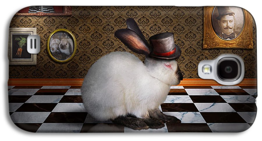 Rabbit Galaxy S4 Case featuring the photograph Animal - The Rabbit by Mike Savad