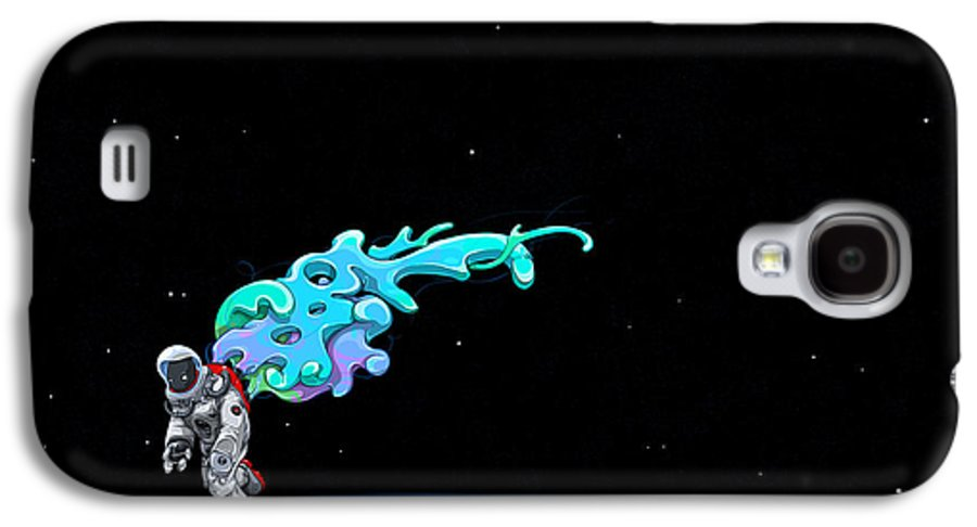 Space Galaxy S4 Case featuring the photograph Animated Space Man by Gianfranco Weiss