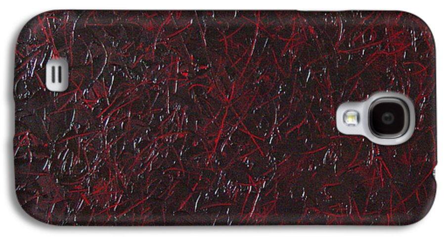 Abstract Galaxy S4 Case featuring the painting Another Shedding by Dean Triolo