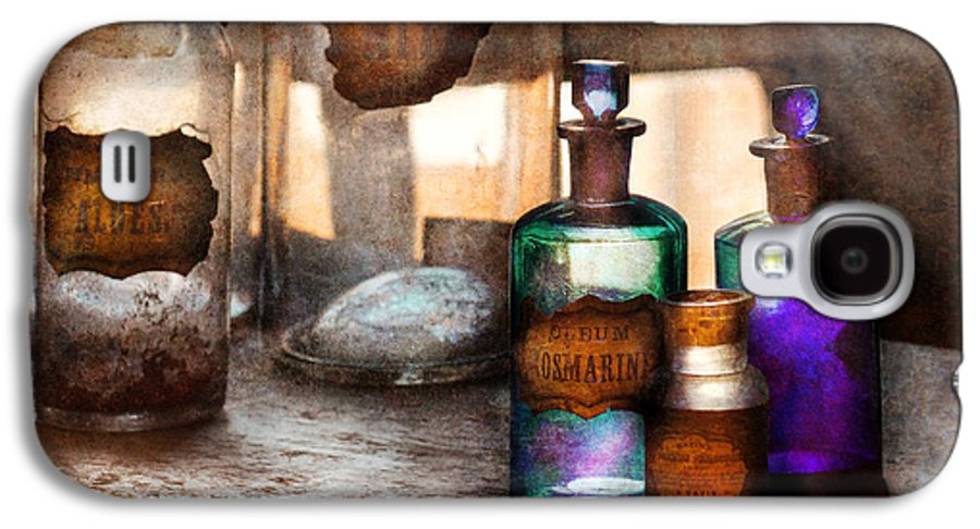 Doctor Galaxy S4 Case featuring the photograph Apothecary - Oleum Rosmarini by Mike Savad