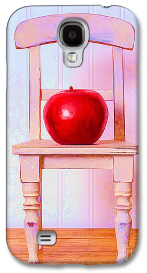 Chair Galaxy S4 Case featuring the photograph Apple Still Life With Doll Chair by Edward Fielding