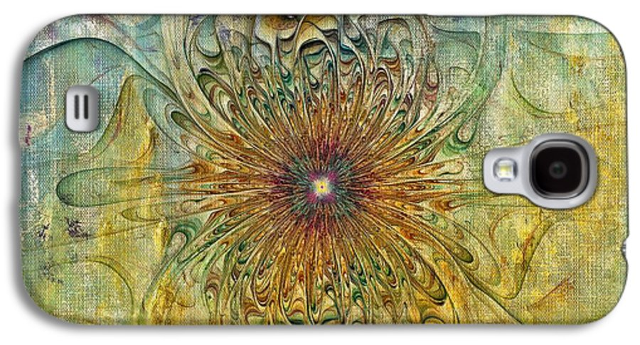 Abstract Galaxy S4 Case featuring the digital art Are There Faces by Deborah Benoit