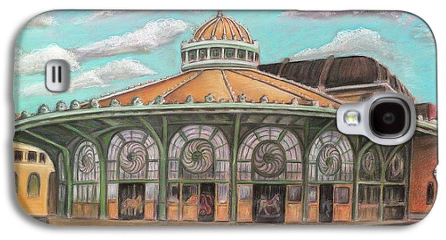 Carousel House Galaxy S4 Case featuring the painting Asbury Park Carousel House by Melinda Saminski