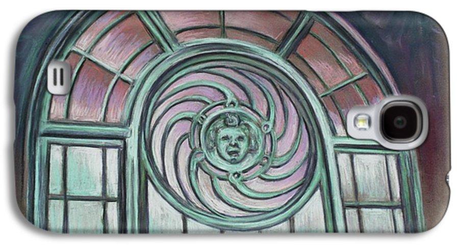Asbury Park Galaxy S4 Case featuring the painting Asbury Park Carousel Window by Melinda Saminski