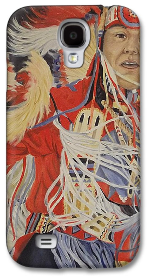 Indian Galaxy S4 Case featuring the painting At The Powwow by Wanda Dansereau