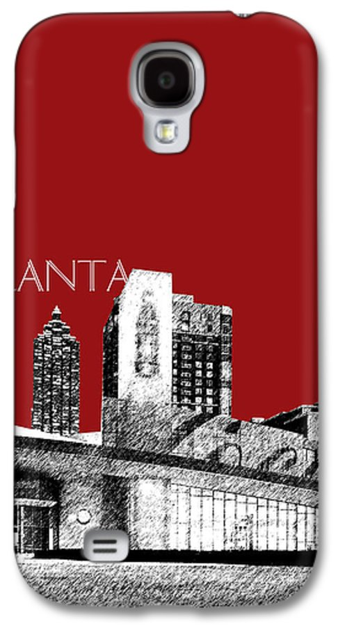 Architecture Galaxy S4 Case featuring the digital art Atlanta World Of Coke Museum - Dark Red by DB Artist