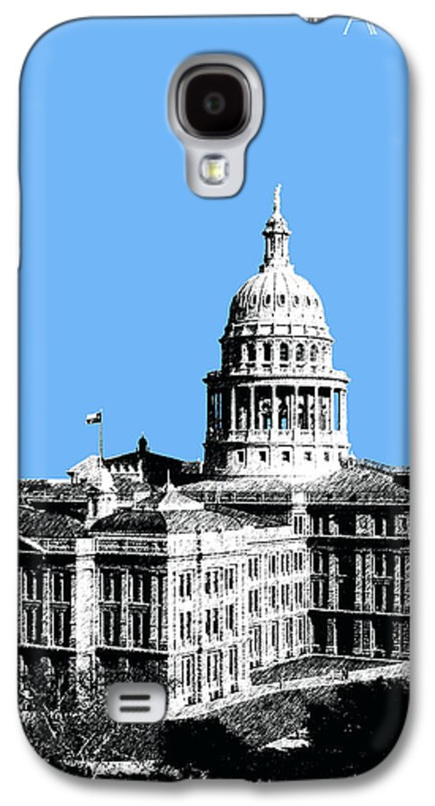 Architecture Galaxy S4 Case featuring the digital art Austin Texas Capital - Sky Blue by DB Artist