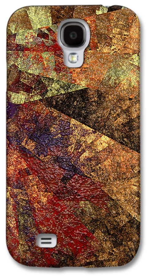 Abstract Galaxy S4 Case featuring the digital art Autumn Bend by Andee Design