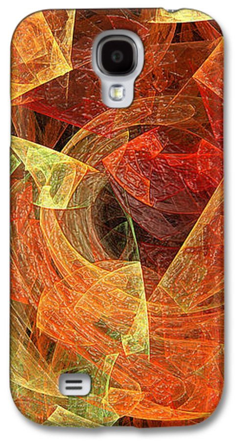Abstract Galaxy S4 Case featuring the digital art Autumn Chaos by Andee Design
