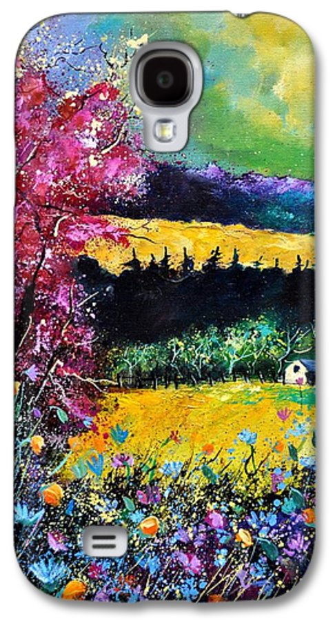 Landscape Galaxy S4 Case featuring the painting Autumn Flowers by Pol Ledent