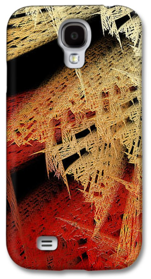 Abstract Galaxy S4 Case featuring the digital art Autumn Lace by Andee Design