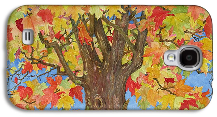 Leaves Galaxy S4 Case featuring the painting Autumn Leaves 1 by Mary Ellen Mueller Legault