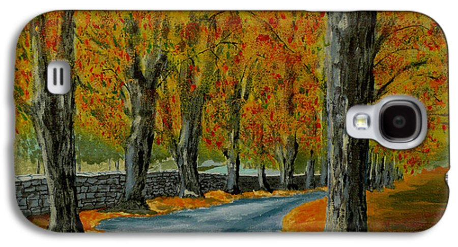 Autumn Galaxy S4 Case featuring the painting Autumn Pathway by Anthony Dunphy