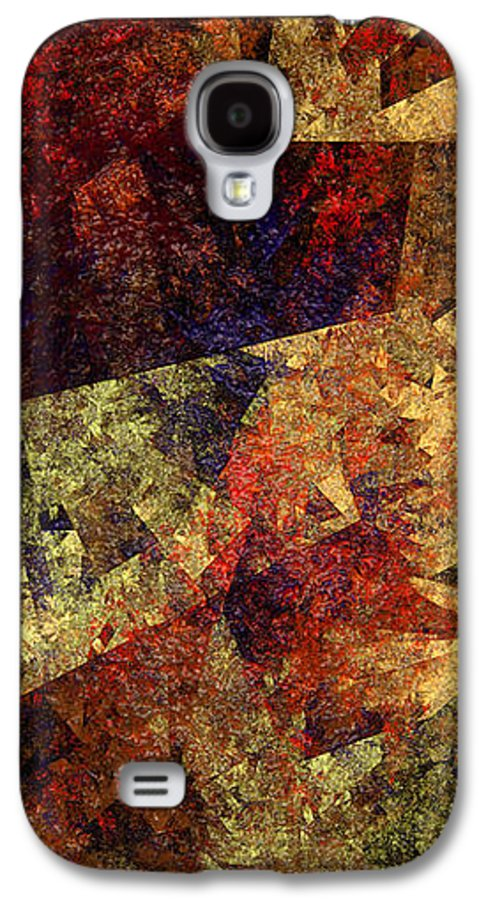 Abstract Galaxy S4 Case featuring the digital art Autumn Road by Andee Design