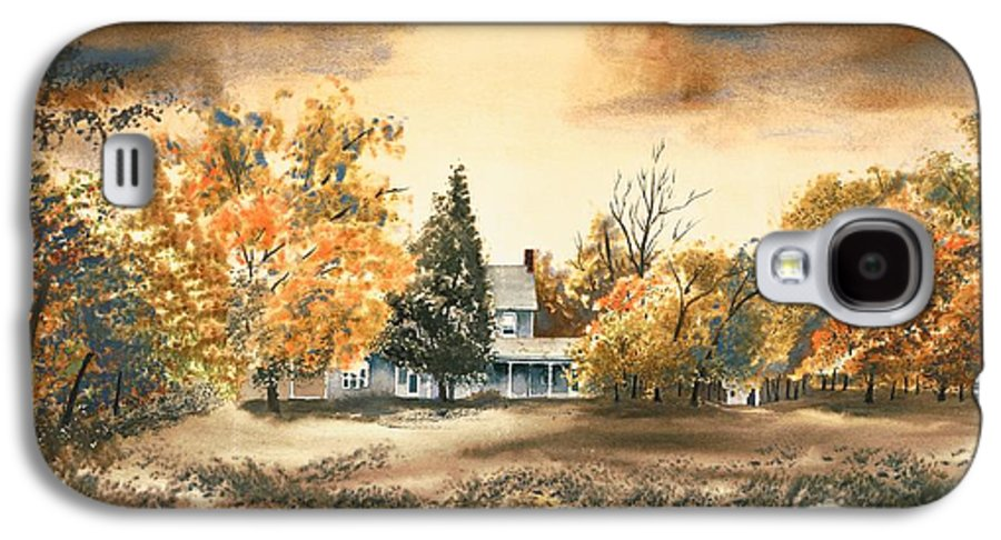 Autumn Sky No W103 Galaxy S4 Case featuring the painting Autumn Sky No W103 by Kip DeVore