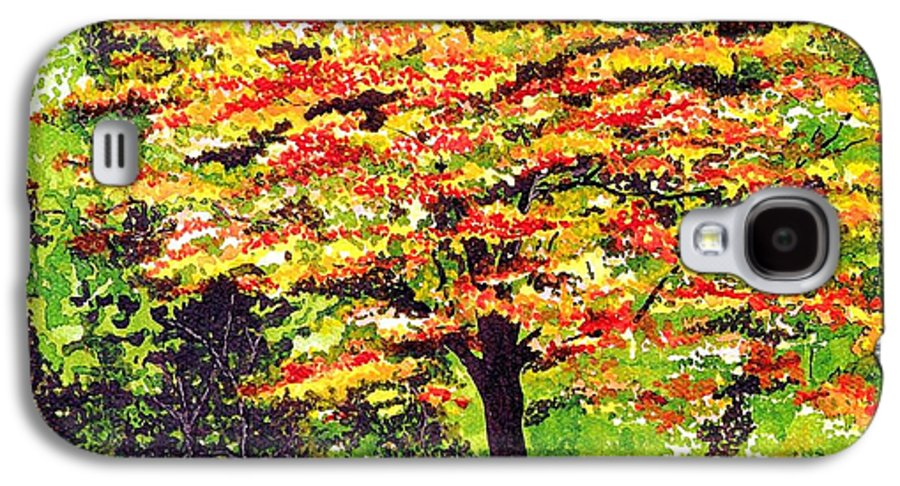 Fine Art Galaxy S4 Case featuring the painting Autumn Splendor by Patricia Griffin Brett