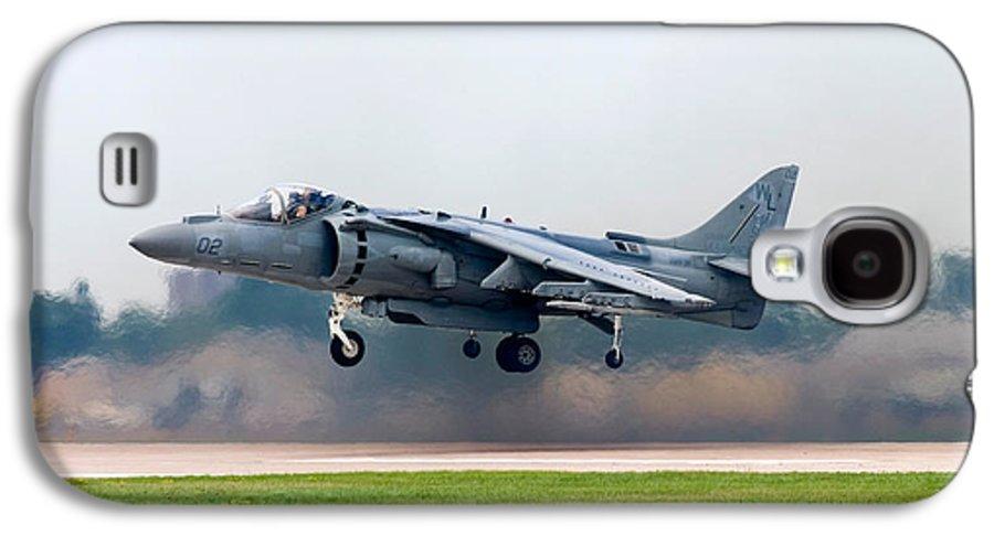 3scape Galaxy S4 Case featuring the photograph Av-8b Harrier by Adam Romanowicz